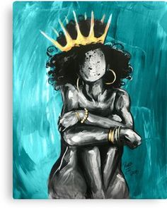 Check Out These Arts And Crafts Tips Teal Framed Art, Framed Art Prints, Canvas Prints, Teal Canvas Art, Black Art Painting, Black Artwork, Black Love Art, Black Girl Art, Black Girl Magic
