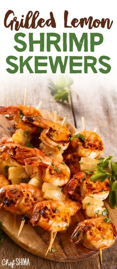 Looking for some BBQ recipe ideas? Then our Grilled Lemon Shrimp Skewers recipe is your answer! Try it out today for your next BBQ. Shrimp Skewers, Bbq Food, Grilling Recipes, Seafood, Side Dishes, Lemon, Appetizers, Yummy Food, Ocean