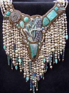Beautiful beaded embroidery jewelry