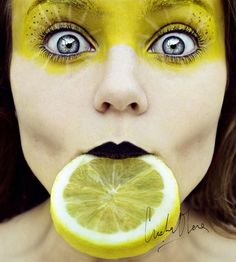 Tutti Frutti - 15 Fruity Self Portrait Photography examples by Old Cristina Otero   | Read full article: http://webneel.com/tutti-frutti-15-fruity-self-portrait-photographs-old-cristina-otero | more http://webneel.com/photography | Follow us www.pinterest.com/webneel
