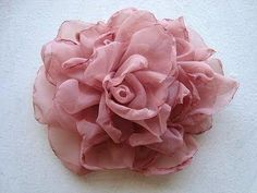 Wedding bouquet : DIY fabric flower tutorial