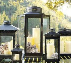 Place seashells in lantern with battery operated candle on patio to give your outdoor space a coastal vibe.