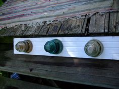 glass insulator coat rack