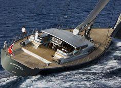 Sailing-super-yacht de luxe de croisière rapide / salon de pont - SAUDADE - Wally
