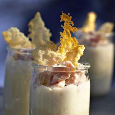 Découvrez la recette des verrines d'endives au jambon Finger Food Appetizers, Finger Foods, Knafe Recipe, Tapas, 20 Min, Glass Of Milk, Buffet, Panna Cotta, Ice Cream