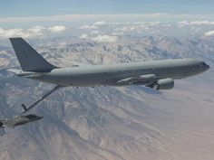 RAAF tanker jet refuel F-35A Joint Strike Fighter in mid-air
