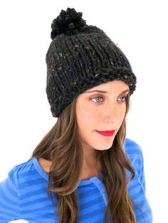 This cute hat can be knitted in a vegan blend.