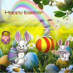 Dancing Bunnies Happy Easter Gif