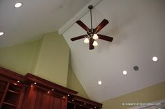 Vaulted Ceiling with Sloped Ceiling Recessed Lighting   Home     Image result for PICTURES OF RECESSED LIGHTING IN SLOPED CEILING
