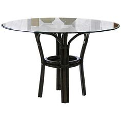 Panama Jack Sanibel Banana Leaf Glass-Top Dining Table