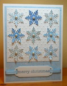 Snowflakes for Queen Holly by susanbri - Cards and Paper Crafts at Splitcoaststampers Homemade Christmas Cards, Christmas Cards To Make, Xmas Cards, Christmas Greetings, Diy Cards, Handmade Christmas, Homemade Cards, Holiday Cards, Christmas Crafts