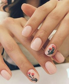 """If you're unfamiliar with nail trends and you hear the words """"coffin nails,"""" what comes to mind? It's not nails with coffins drawn on them. It's long nails with a square tip, and the look has. Spring Nail Art, Spring Nails, Fall Nails, Summer Nails, Cute Nails, Pretty Nails, Hair And Nails, My Nails, Prom Nails"""