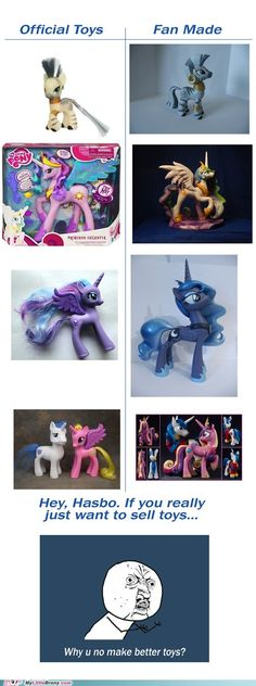 Woah...that's a pretty big difference! XD And this is why we shouldn't buy toys from them, and get fan made ones instead!