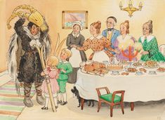One is Uncle Blue - Peter and Lotta's Christmas (Sweden, Elsa Beskow)