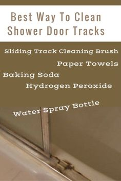 How to Clean Your Shower Door Tracks Hard water stains Hard
