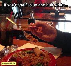 Funny pictures about The only logical way to eat. Oh, and cool pics about The only logical way to eat. Also, The only logical way to eat. Lifehacks, Best Funny Pictures, Funny Images, Funny Pics, Funny Quotes, Asian Problems, Desi Problems, Asian Humor, Funny Asian