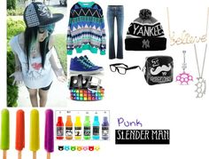 """emo style"" by scenefreak117 ❤ liked on Polyvore"