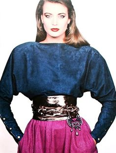 Eighties Fashion - Shoulder Pads, Leather and Suede - Burda International Fall/Winter 1982 - 1983