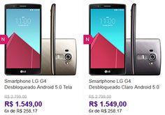 Smartphone LG G4 Android 5.1 Lollipop Tela 55'' 32GB Wi-Fi Câmera de 16MP - Duas Cores Disponíveis << R$ 154900 em 6 vezes >>