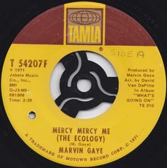 Marvin Gaye Mercy Mercy Me (The Ecology) by Acvintagevinyl on Etsy
