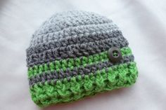 0  3 months Crochet Beanie Baby boy crochet hat by AngieMade, $12.00