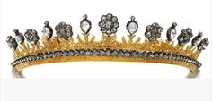 Gold and diamond tiara
