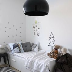 Ikea Brimnes bed with storage in a kid's room