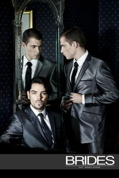 On Trend: 2012 Mens Wedding Suiting - Rich opulent fabrics broken up by blacks and rich metallics.
