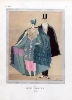 Lucien Lelong 1924  Evening Gown, Charles Martin