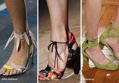 Spring/ Summer 2017 Shoe Trends: Shoes with Ankle Straps & Ties