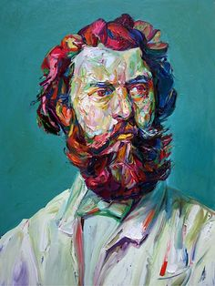 """Aaron Smith, """"Ginger"""",2012, oil on panel, 48"""" x 36"""""""