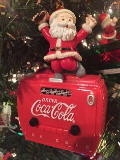 Enesco Coca Cola musical ornament.