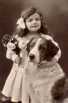 vintage girl     Always love children and doggies in a picture