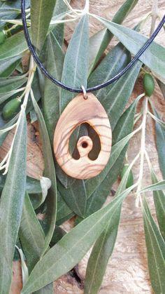 Hand carved Greek Olive wood necklace by ellenisworkshop on Etsy, $29.00