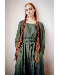 """Платье-лён  """"красота простых линий"""""""