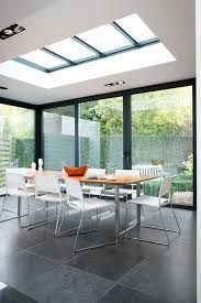25 Most Amazing Indoor Skylights To Improve Your Interiors Skylights are one of the best ways if you want to include outdoor shades into your home. This decoration emphasizes abundant natural lighting and allows your interior to become brighter Skylight Design, Roof Skylight, Skylights, Roof Design, House Design, Moderne Lofts, House Extension Design, Interior Design Living Room, Interior Livingroom