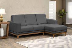 Sofá cinza: 85 ideias de como usar esse móvel versátil na decoração Sofa Bed Design, Living Room Sofa Design, Living Room Designs, Living Room Decor, Kitchen Cabinets Decor, Cabinet Decor, Cozy Sofa, Sofa Set, Yellow Sofa