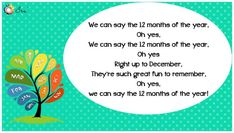 Months of the Year Rhymes for Kids - Ira Parenting List Of Months, Months In A Year, Rhymes Lyrics, Rhymes For Kids, Thing 1 Thing 2, Parenting, Songs, Blog, Fun
