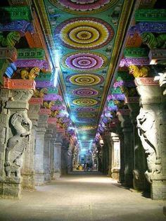 Colorful architecture at Meenakshi Amman Temple in Madurai, India | Fashion's Most Wanted