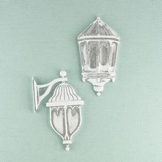 Prima - Shabby Chic Collection - Metal Treasure Embellishments - Outdoor Wall Lamp at Scrapbook.com $4.99