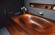 Wooden tub - 20 luxurious baths. Put me in there