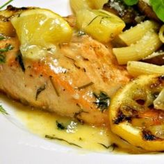 Big Rays Lemony Grilled Salmon Fillets with Dill Sauce - Allrecipes.com