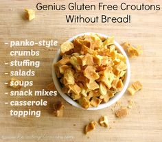 Genius GF Croutons & Panko Style Crumbs | No Bread Needed! Waffle iron needed.