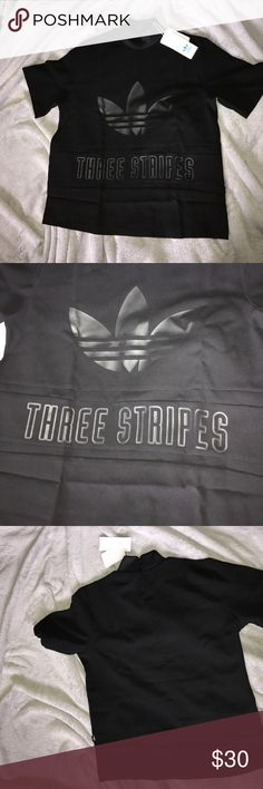 Black high neck adidas shirt New with tags never worn black adidas high neck shirt size medium Adidas Tops Tees - Short Sleeve