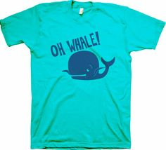 Oh Whale! - American Apparel - Cute Kids TShirt - Funny Kids Tshirt, Oh Well, Whales, Hipster, Cool Tshirt, Tee Shirt, T-Shirt, Youth Bloom