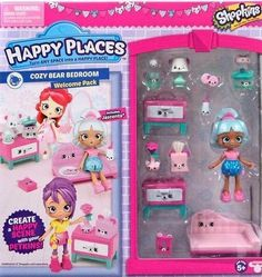 Shopkins Happy Places Cozy Bear Bedroom with Jascenta Doll New  | eBay