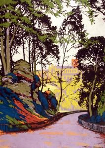 St Albans and Verulamium, by Walter E Spradbery, 1930 Railway Posters, Travel Posters, Epping Forest, London Transport Museum, Cottage Art, Travel Cards, Advertising Signs, Linocut Prints