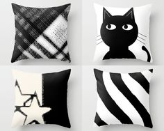 Change the look of your existing throw pillows with these pillow covers or buy them as a complete pillow.