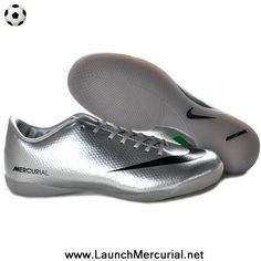 379027ede6af Star s favorite Nike Mercurial Vapor IX IC Indoor Shoes Silver Black Green Soccer  Boots For Sale