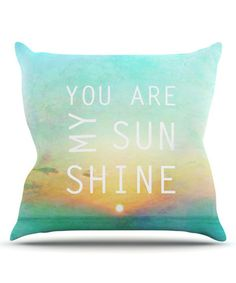 Because this song always makes me smile. :: 'You Are My Sunshine' Throw Pillow